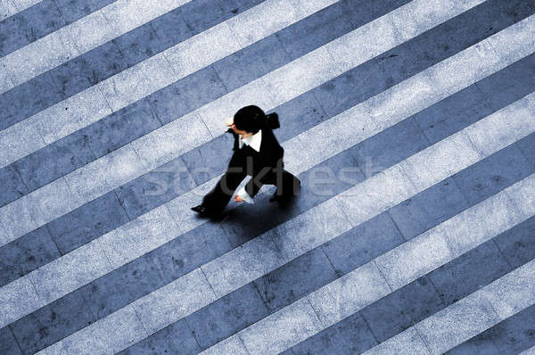 Busy walk scene on the stripped floor Stock photo © artjazz