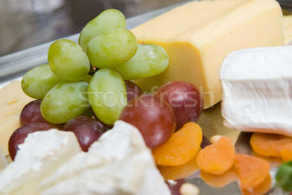 appetizer from cheese and grape Stock photo © artjazz