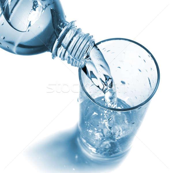 Wody szkła butelki odizolowany Zdjęcia stock © artjazz