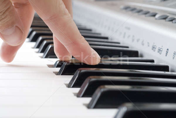 hand playing music on the piano Stock photo © artjazz