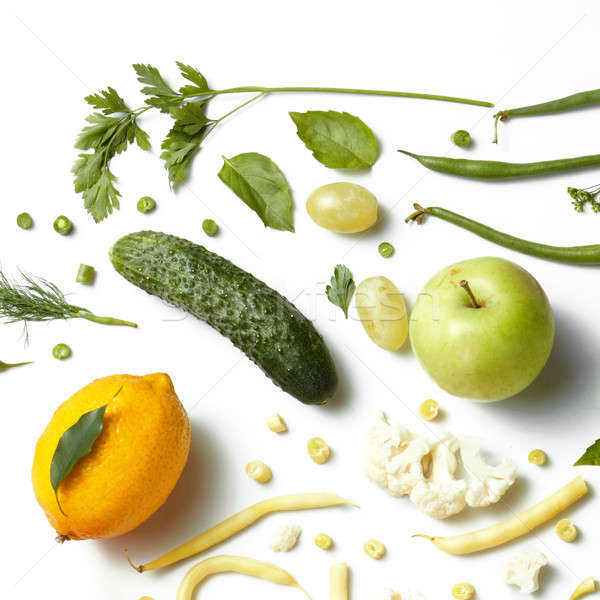 Composition of fruit and vegetables Stock photo © artjazz