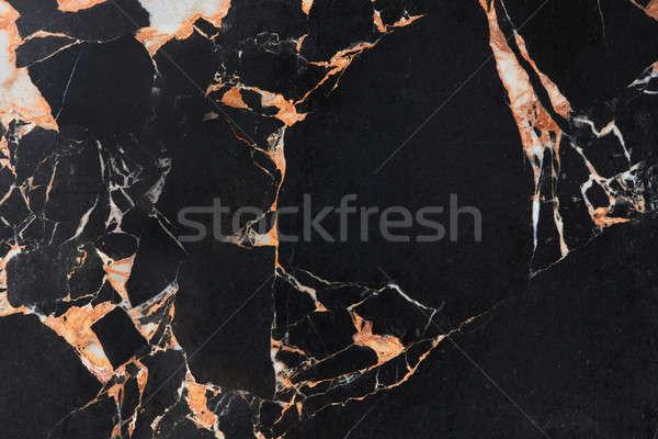 черный мрамор природного шаблон аннотация желтый Сток-фото © artjazz