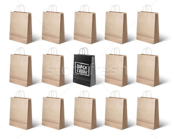 black Friday. paper bags Stock photo © artjazz