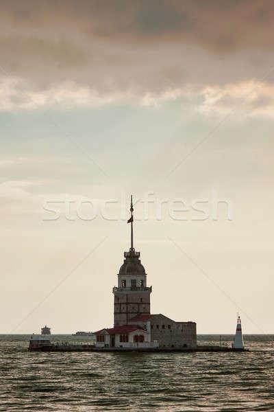 Stock photo: Maiden's Tower in Istanbul, Turkey