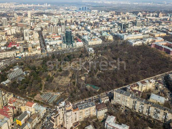 Panoramica view città giardino botanico Università Foto d'archivio © artjazz