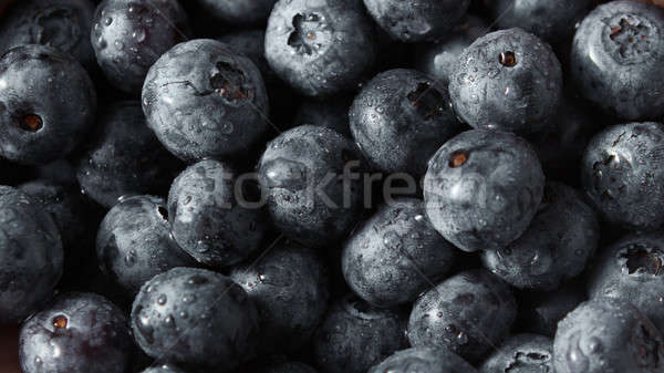 Stock photo: Fresh berries summer background. Concept of healhy organic vegetarian clean eating.