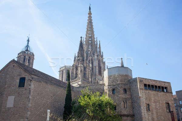Готский собора Барселона Испания 17 2013 Сток-фото © artjazz