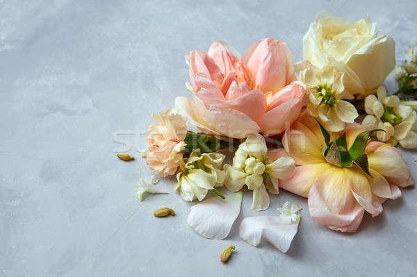 beautiful pastel flowers Stock photo © artjazz