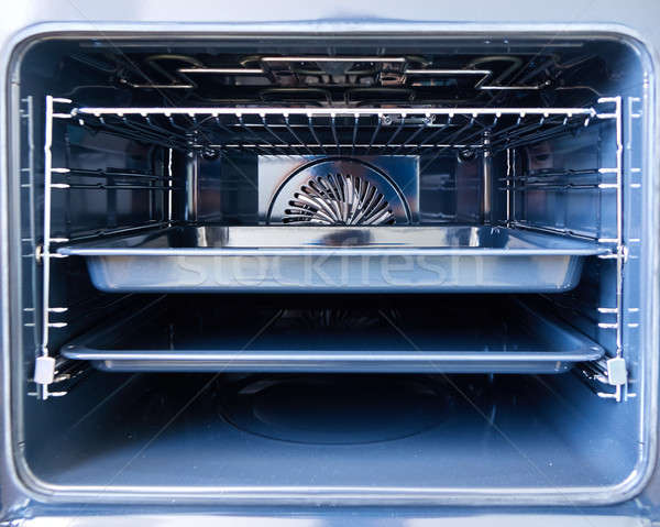 Modern oven with tray inside Stock photo © artjazz