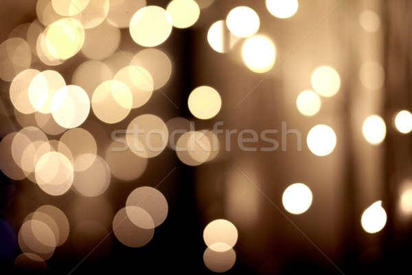 festive golden bokeh background Stock photo © artjazz