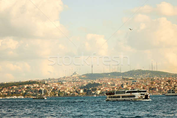 City landscape, sea, sky Istanbul, Turkey Stock photo © artjazz