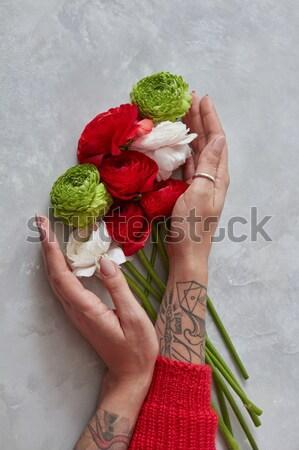 свежие букет бежевый роз капучино Сток-фото © artjazz