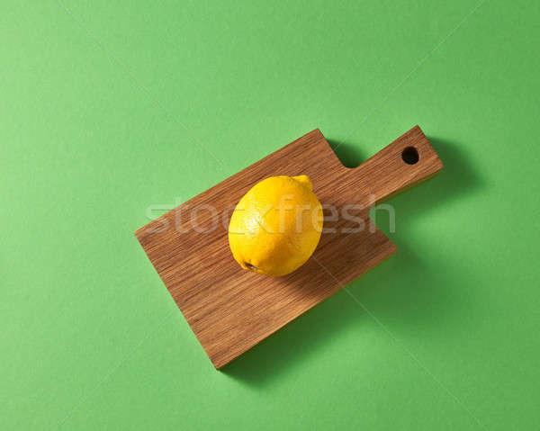 érett fényes egy citromsárga egész citrom Stock fotó © artjazz