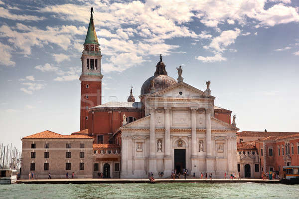 San Giorgio Maggiore church on Grand Canal in Venice Stock photo © artjazz