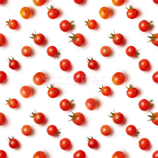 flat lay of beautiful trendy seamless pattern cherry tomato Stock photo © artjazz