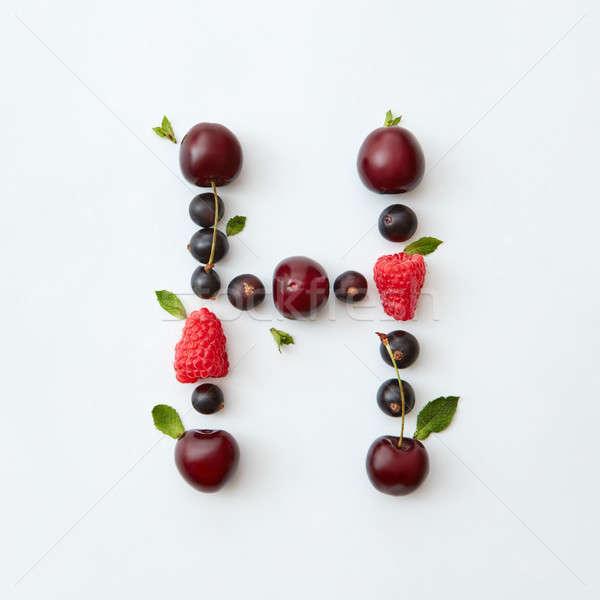 Coloré modèle lettre h anglais alphabet naturelles Photo stock © artjazz
