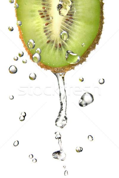 édesvíz cseppek kiwi izolált fehér étel Stock fotó © artjazz