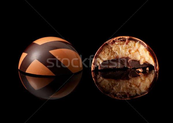 çikolata şeker siyah lezzetli sarı gıda Stok fotoğraf © artjazz