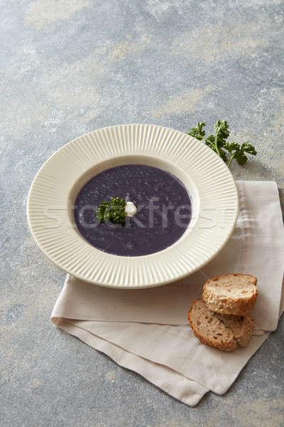 Vegan leves asztal finom egészséges káposzta Stock fotó © artjazz