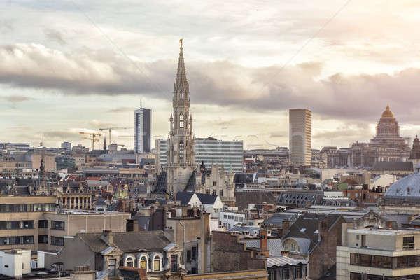 Cityscape of Brussels, Belgium Stock photo © artjazz