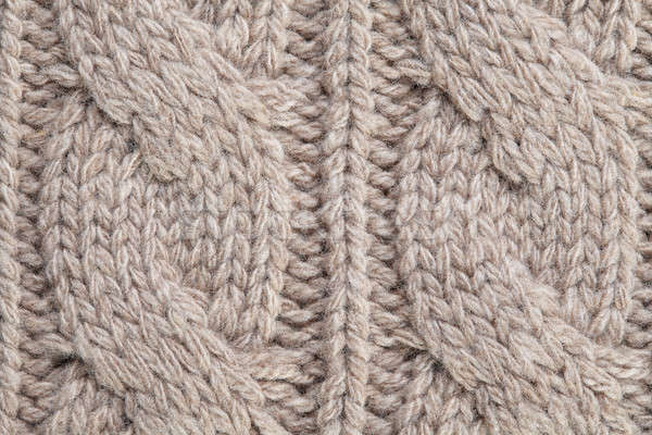 image of knitted fabric texture Stock photo © artjazz