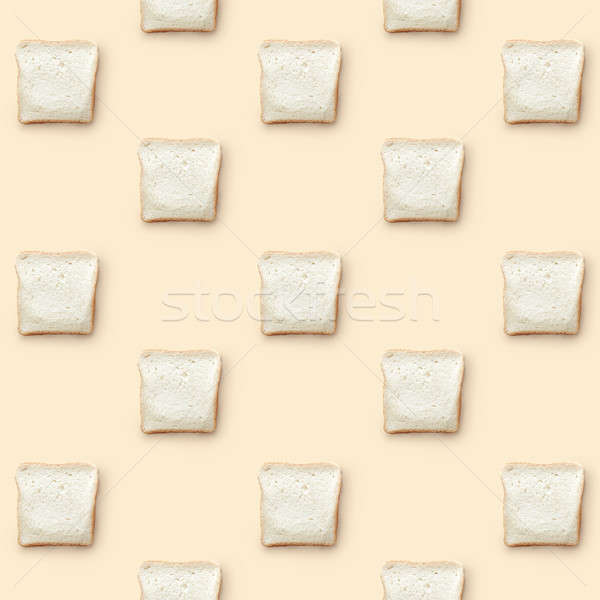 pattern from pieces of white bread Stock photo © artjazz