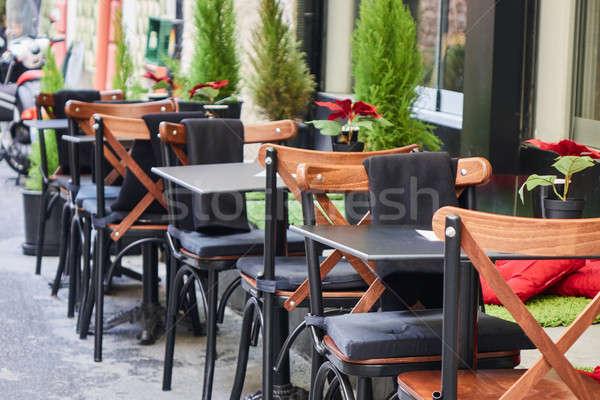 кафе улице Стамбуле турецкий таблице стульев Сток-фото © artjazz