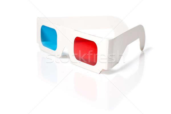 ステレオ 眼鏡 白 紙 背景 フレーム ストックフォト © artjazz