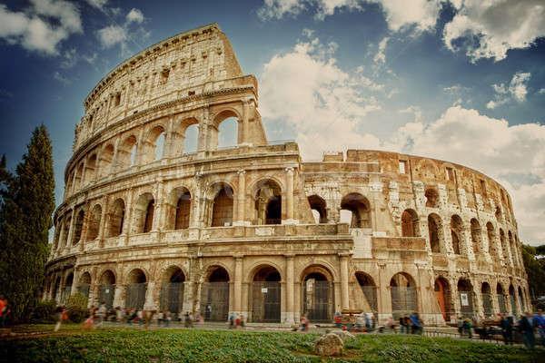 Rzym Włochy dziedzinie zielone kamień Zdjęcia stock © artjazz