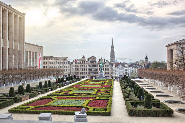 Artes Bruselas Bélgica casa edificio ciudad Foto stock © artjazz
