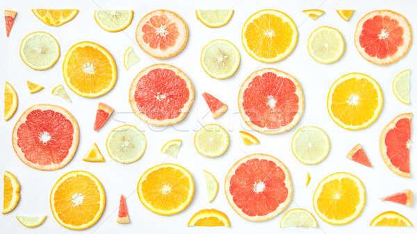 Taze turuncu limon greyfurt Stok fotoğraf © artjazz