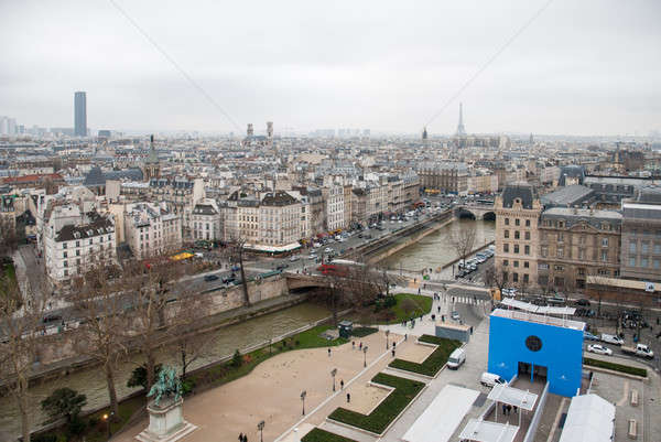 aerial view of Paris Stock photo © artjazz