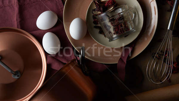 Cooking fresh ingredients Stock photo © artjazz