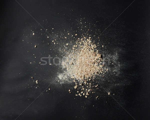 Mąka bułka tarta świeże chleba czarny Zdjęcia stock © artjazz