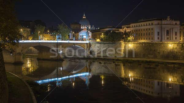 Noc bazylika święty most piękna przedstawiciel Zdjęcia stock © artjazz