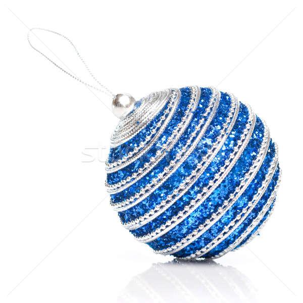 blue christmas ball isolated on white Stock photo © artjazz