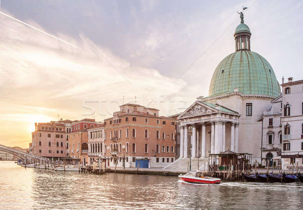 Church San Simeone Piccolo on embankment of Canal Grande Stock photo © artjazz
