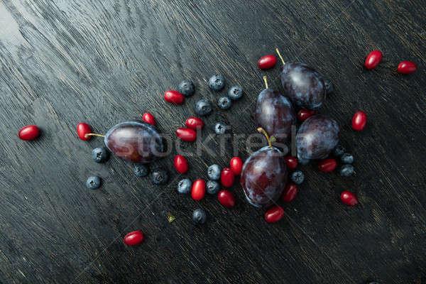 bunch of delicious ripe berries Stock photo © artjazz