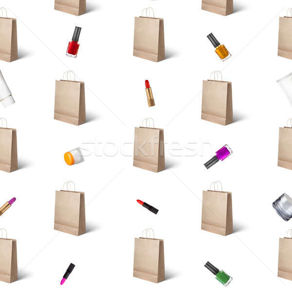 pattern from cosmetics and paper bags Stock photo © artjazz