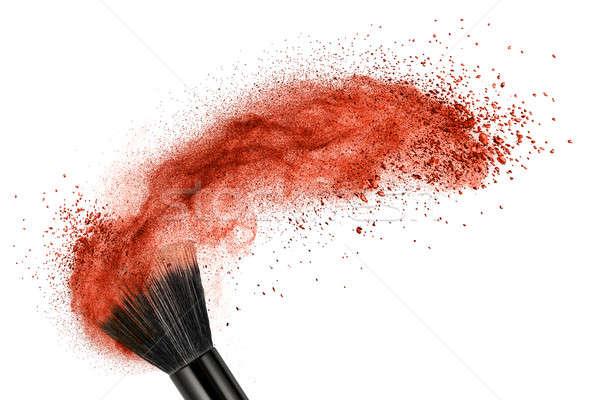 Sminkecset piros por izolált fehér szem Stock fotó © artjazz
