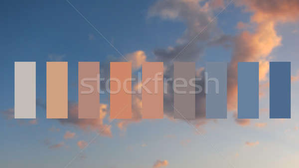 Texture sky and clouds at sunset Stock photo © artjazz