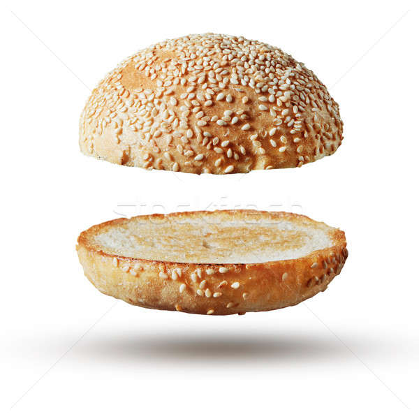 Burger bun empty isolated Stock photo © artjazz