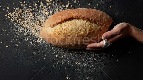 Pain fraîches pain haut vue Photo stock © artjazz