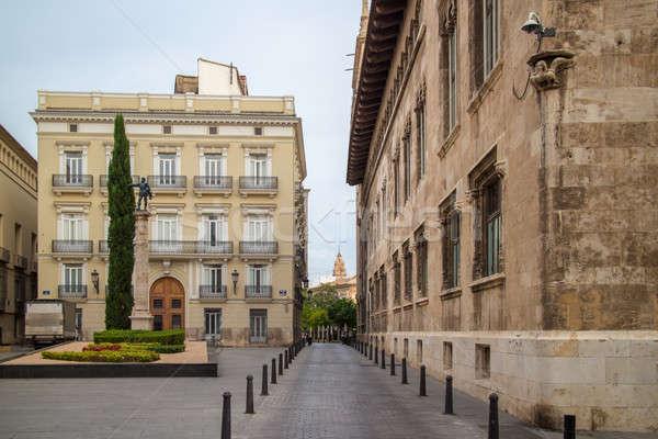 Straat stad centrum Valencia Italië gebouw Stockfoto © artjazz