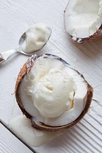Delicious coconut ice cream Stock photo © artjazz