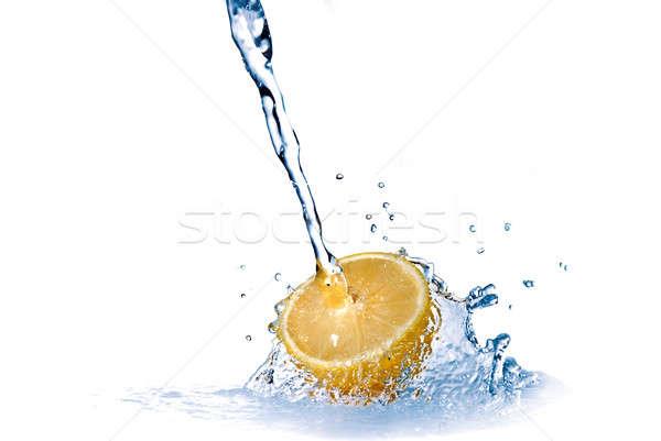 Сток-фото: капли · лимона · изолированный · белый · продовольствие