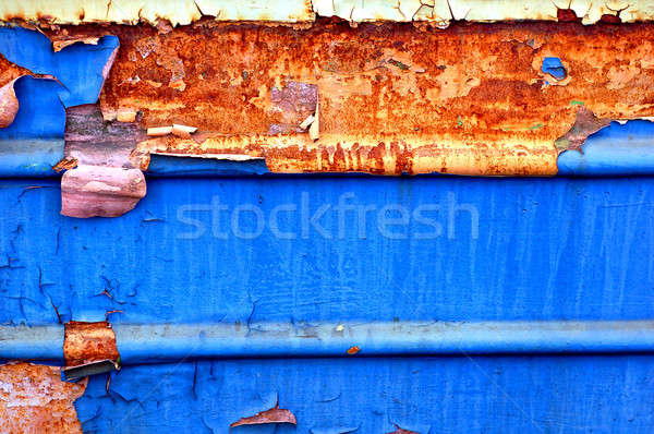 old metal grunge texture with tatters  Stock photo © artjazz