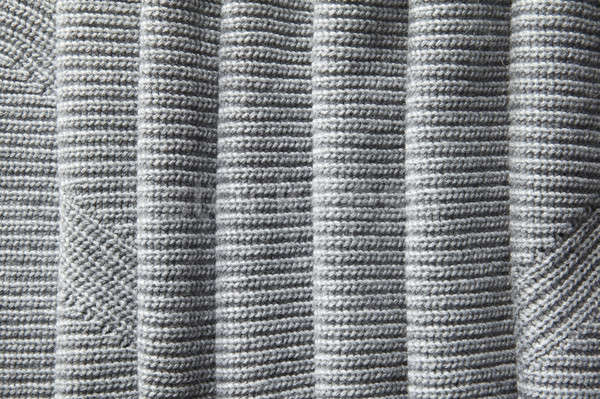 full page of a loose gray knit fabric texture Stock photo © artjazz