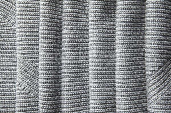 Tok sayfa gevşek gri kumaş doku Stok fotoğraf © artjazz