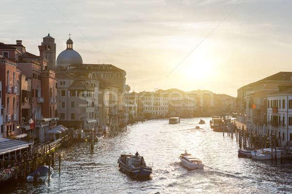 Grand canal in Venice, Italy Stock photo © artjazz